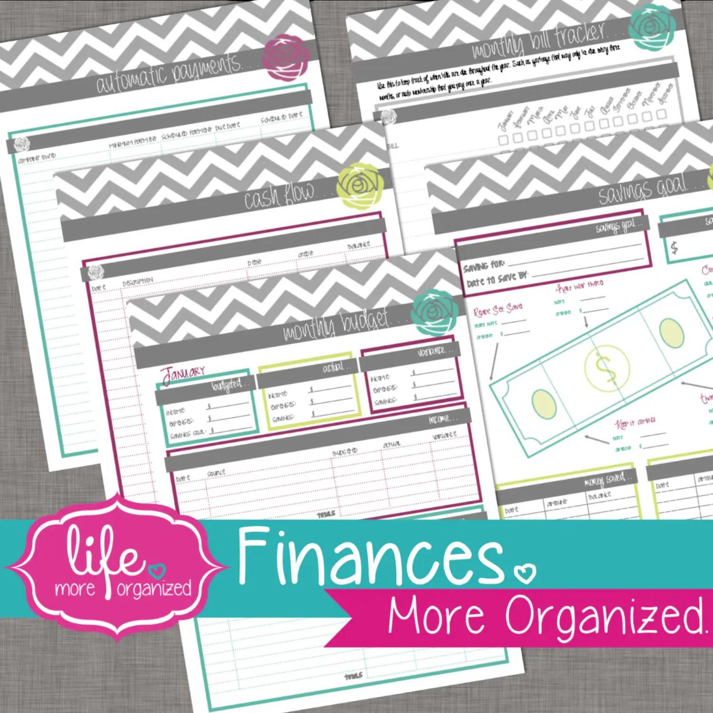 Finances More Organized Monthly Budget Cash Flow