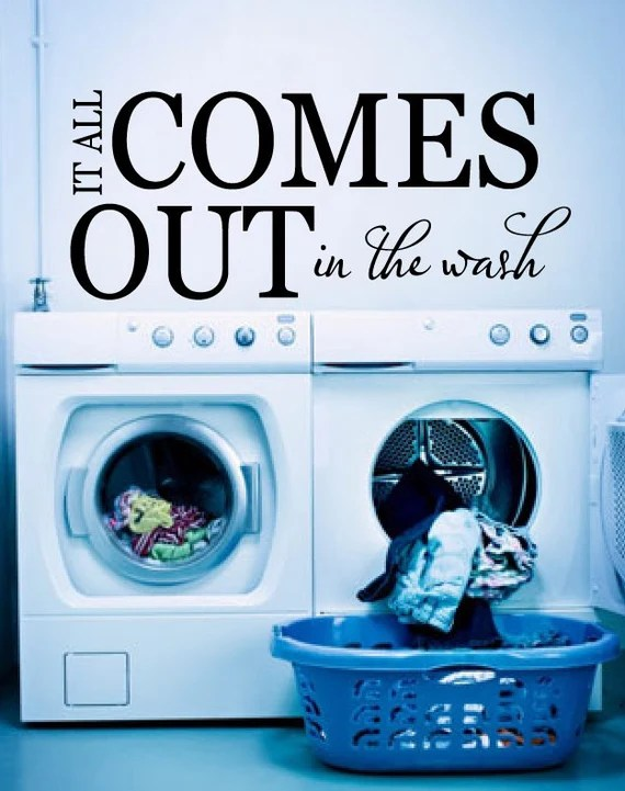 It All Comes Out in the Wash Wall Decal by NewYorkVinyl