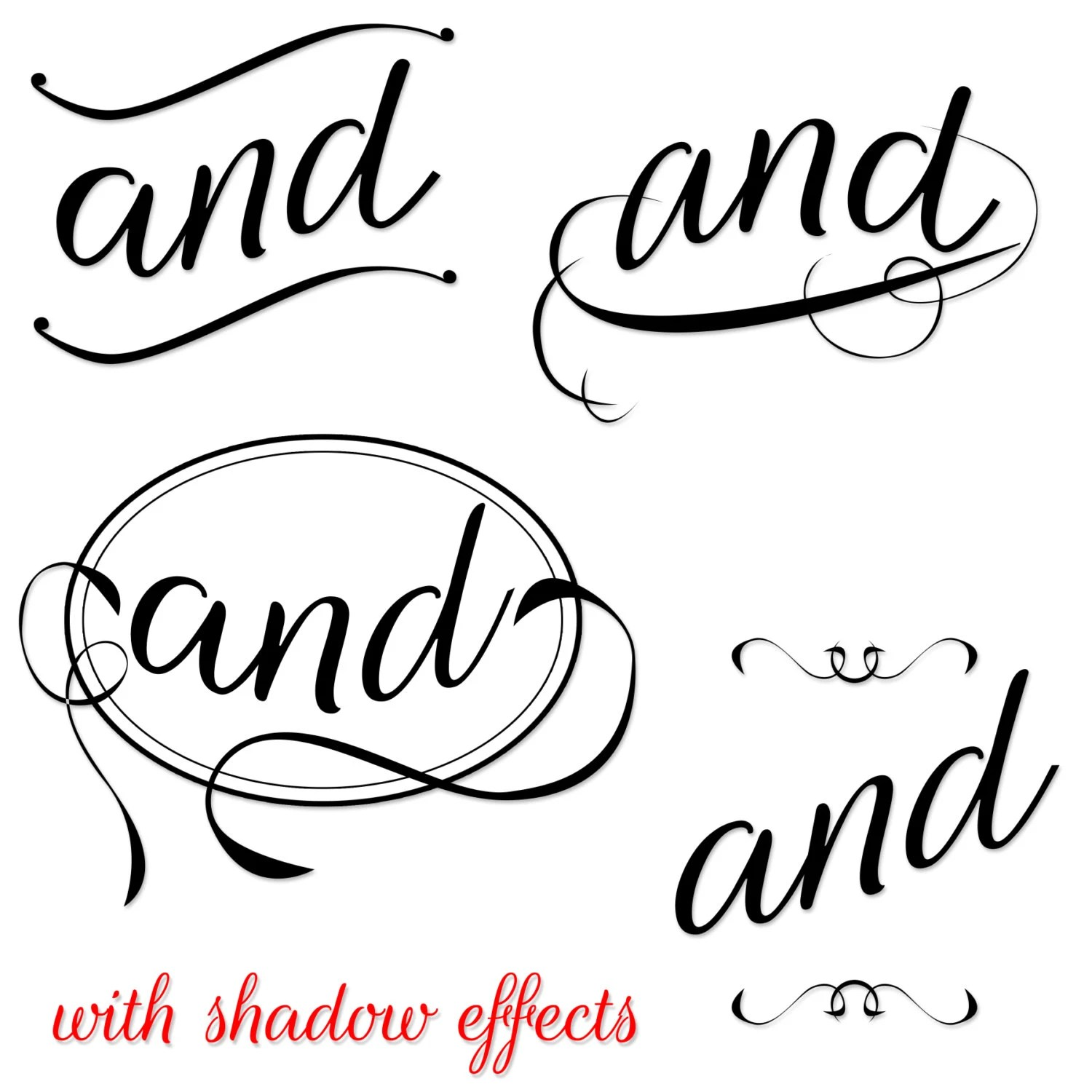 Commercial Use Instant Download Fancy Typography Clipart