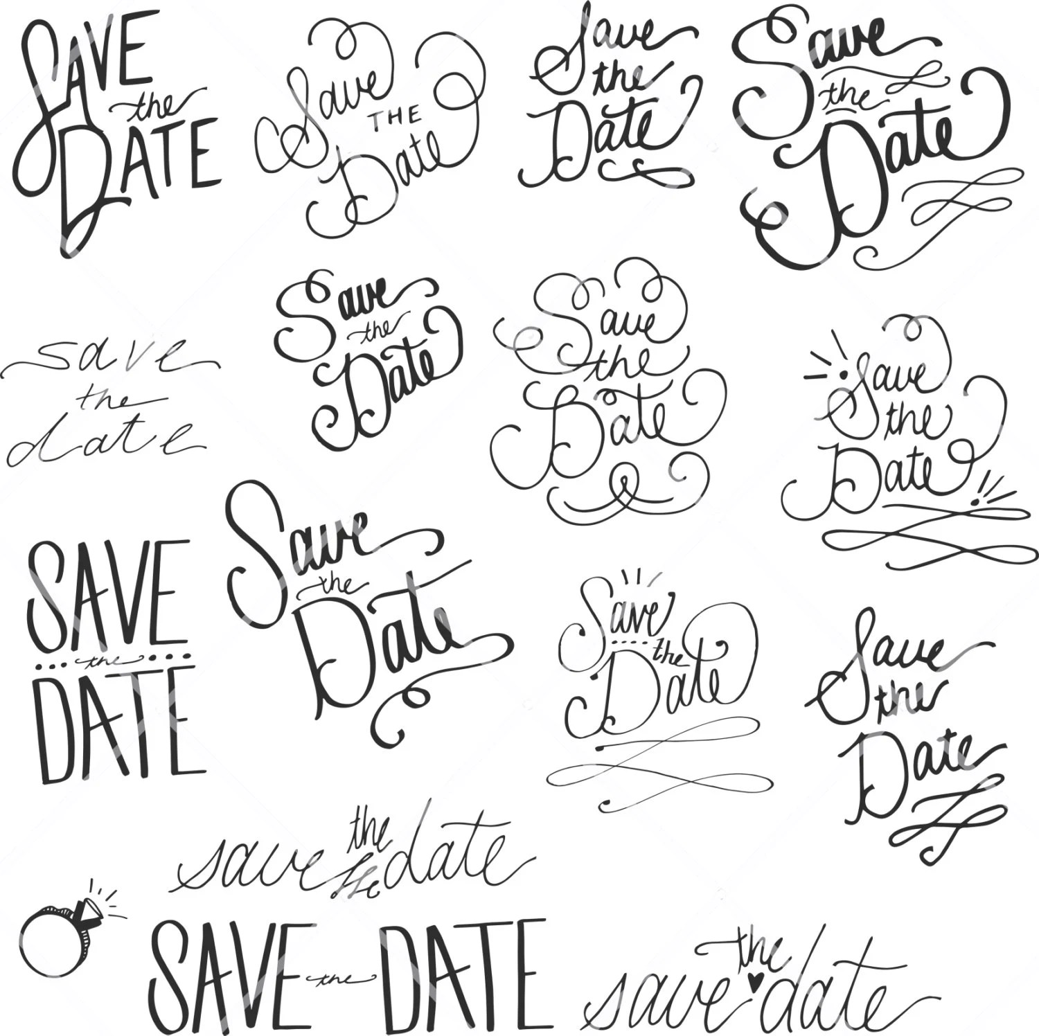 Instant Download Save The Date Vintage Wedding By