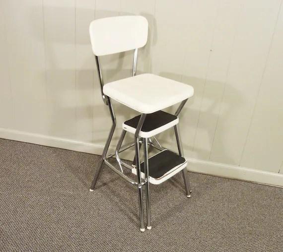 Peachy Black Step Stool Chair Bonat Ullman Convertable Hair Dryer Spiritservingveterans Wood Chair Design Ideas Spiritservingveteransorg