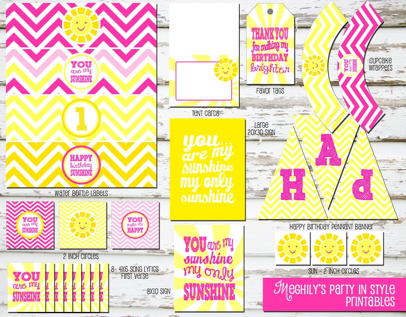 Instant Download You Are My Sunshine Birthday Printable