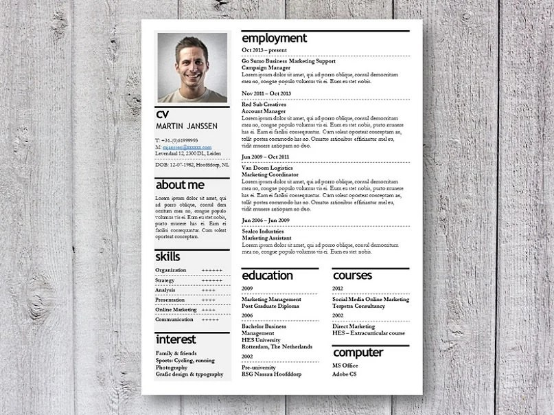 resume template cv template creative resume design by deleydsche