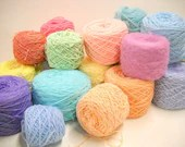Mystery Yarn, Mixed Lot Spring Pastels, Easter Egg Colors, Vintage Yarn, Knitting Supplies, Crochet, - StitchKnit