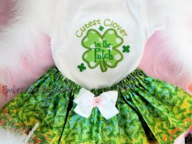 St. Patrick's Day Baby Girls Outfit Cutest Clover in the Patch