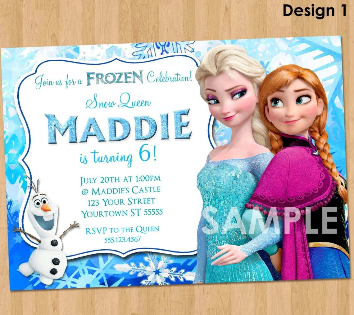 Frozen Birthday Invitation Template Asian Food Near Me