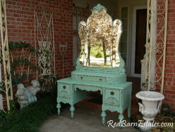 vanity custom order an antique dresser shabby chic painted