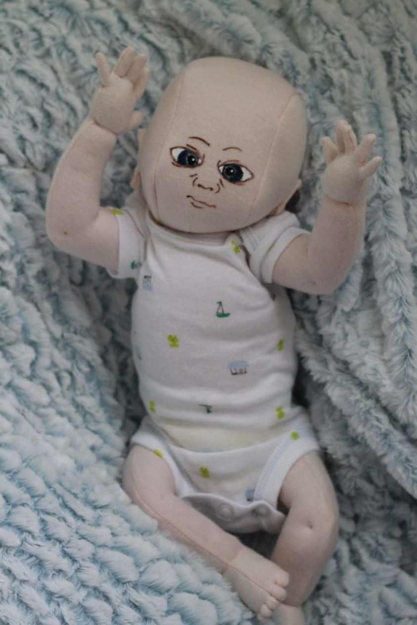 Realistic Preemie Baby Boy Cloth Doll Anatomically Correct