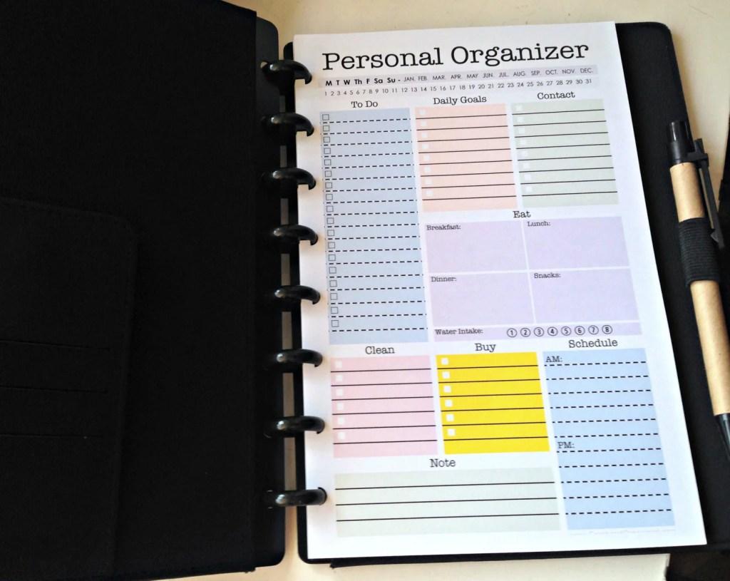Mini Personal Organizer Half Letter Size By Freshandorganized