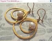 50% OFF SALE Freshwater Pearl Gold Filled Earrings by Amanda Lynne LUXE - amandalynneLUXE