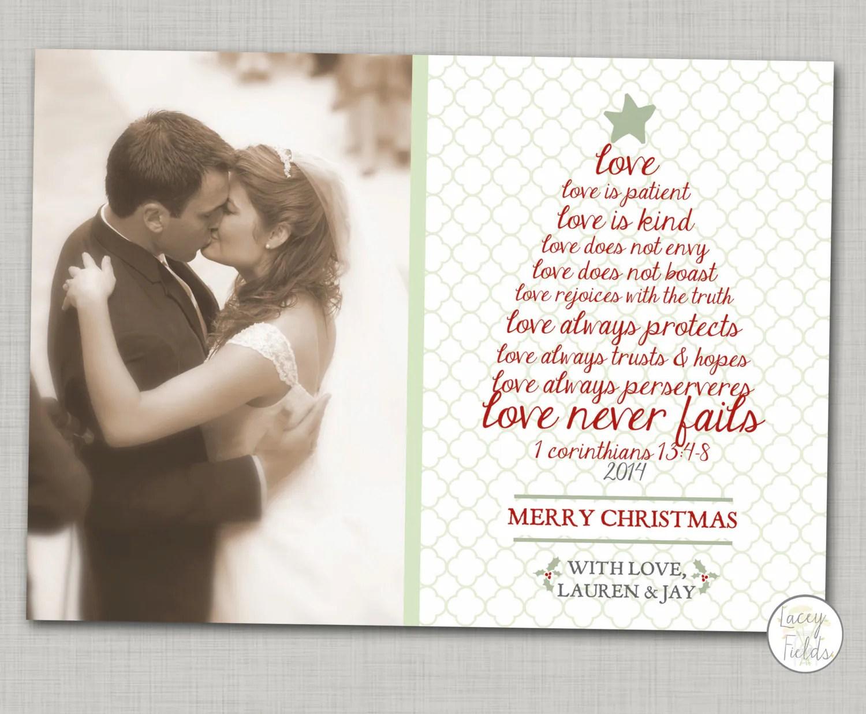 Newlywed Christmas Card Printable Religious Christmas Card