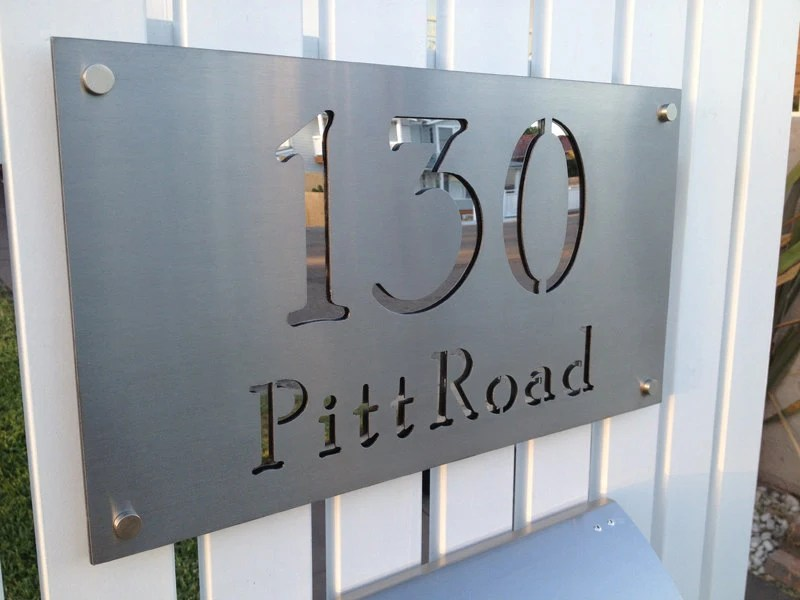 Stainless Steel Custom Made Laser Cut House Signs Numbers