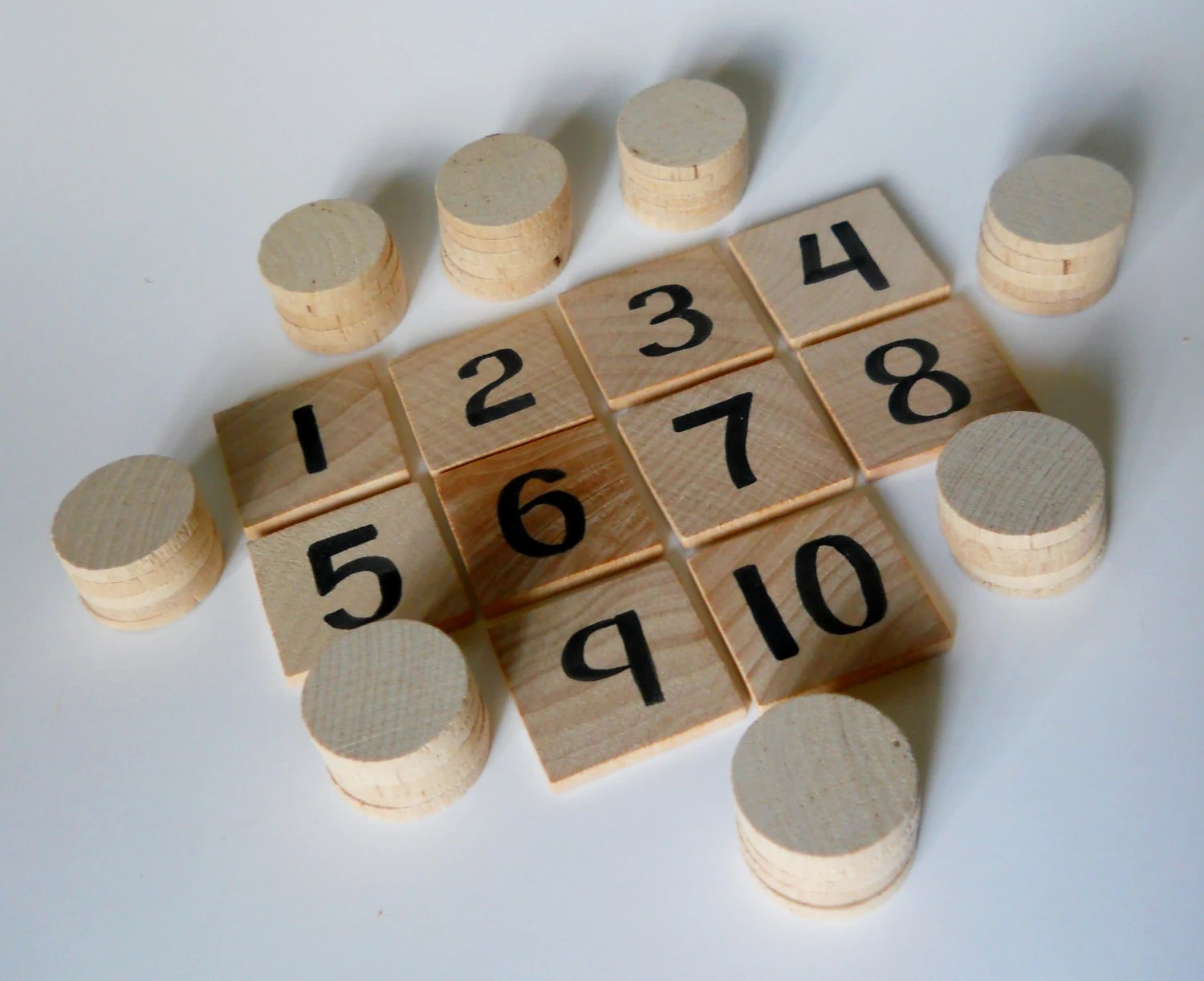Math Game Math Set Waldorf Inspired Numbers Puzzles And