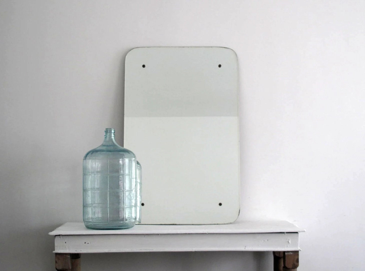 Large Frameless Mirror Antique Wall Mirror By SnapshotVintage