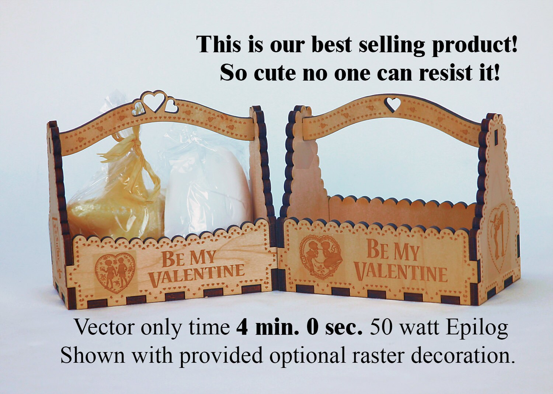 Valentine Gift Box Digital Laser Pattern To Make A Petite
