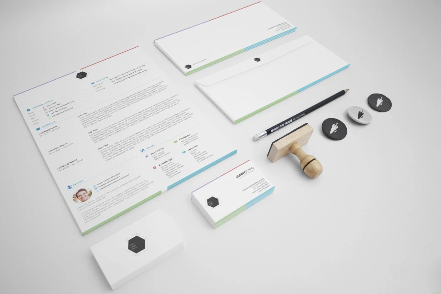 resume template for designers by jonnyevansdesign on etsy