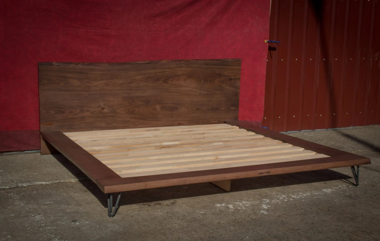 Platform Bed Frame King Size Bed Solid Wood Bed Frame Live