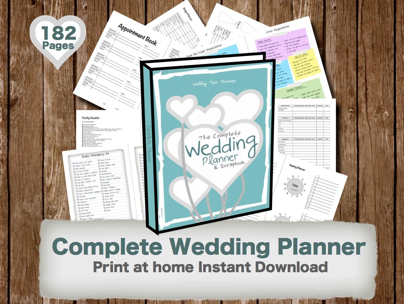 Wedding Planner Book Wedding Organizer Print By