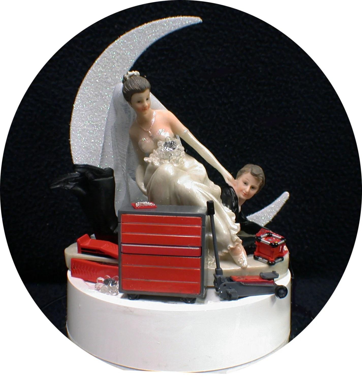 Car AUTO MECHANIC Tools Wedding Cake Topper Bride Amp Groom Tool