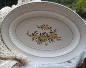 K.T.&K. S---V CHINA  Platter with Pretty yellow Flowers - Daysgonebytreasures