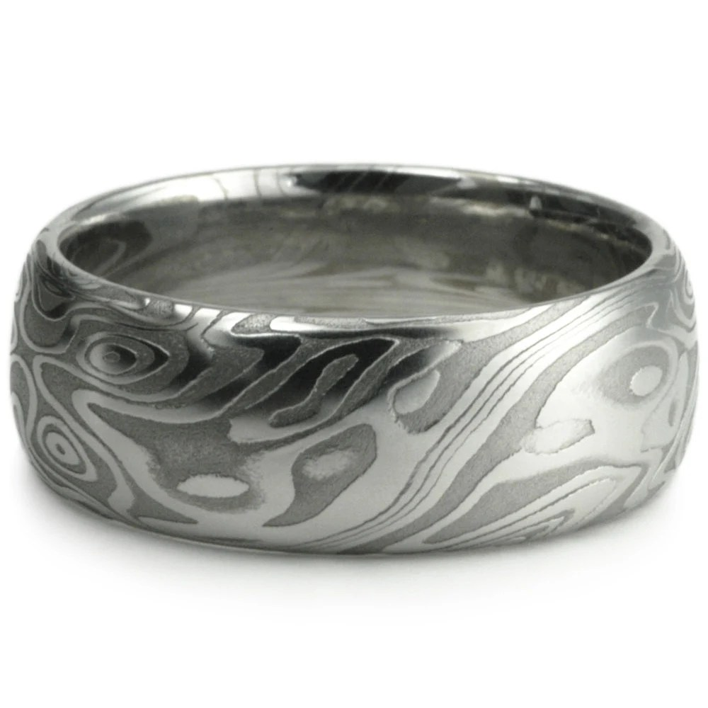 Mens Rings Damascus Mens Wedding Bands