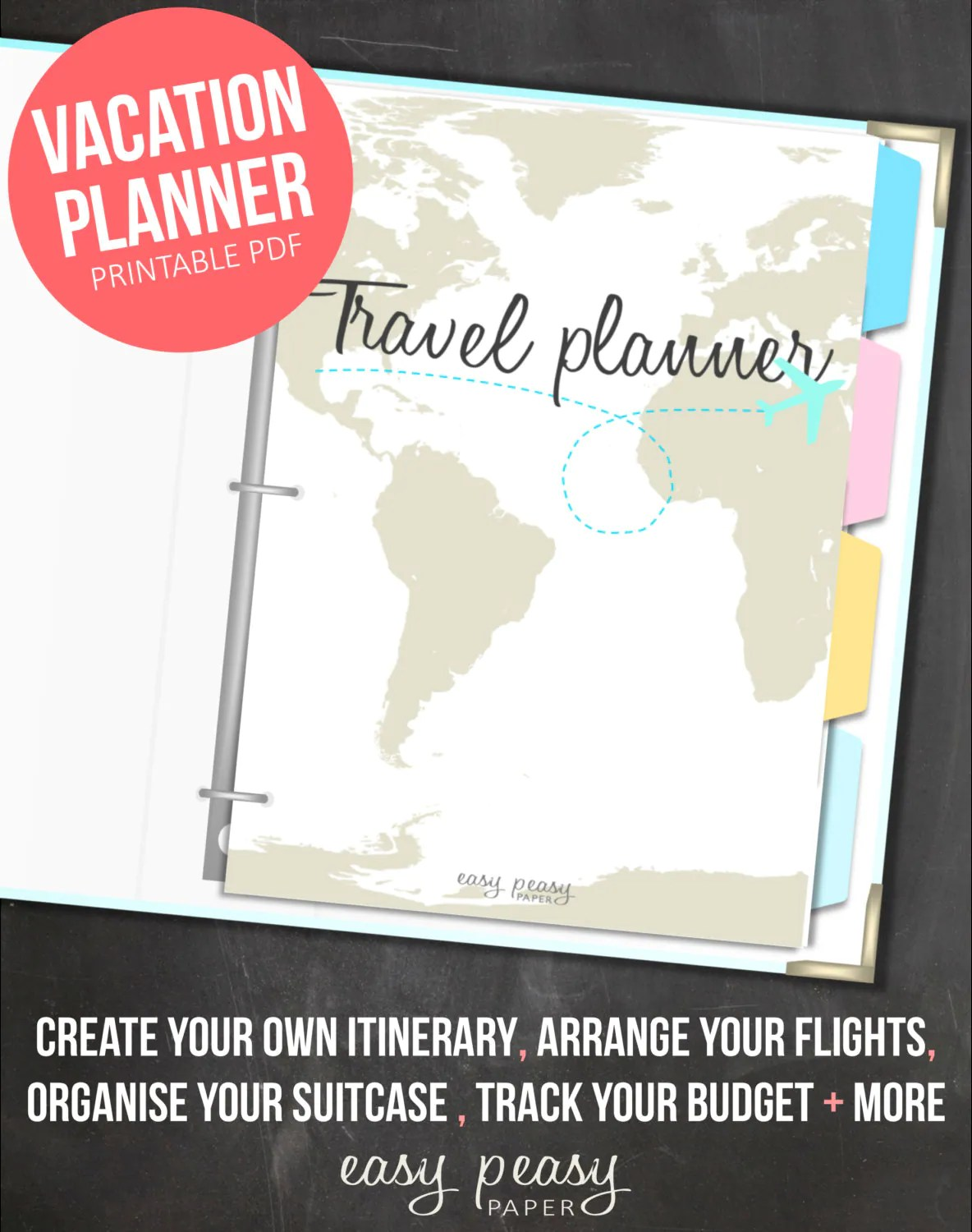 Vacation Planner Printable Holiday Planner By Indigoprintables