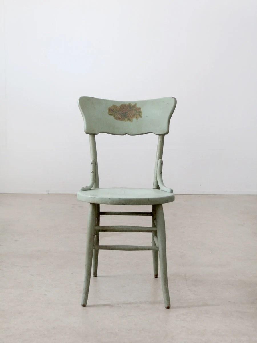 Vintage Painted Wood Chair Primitive Chair