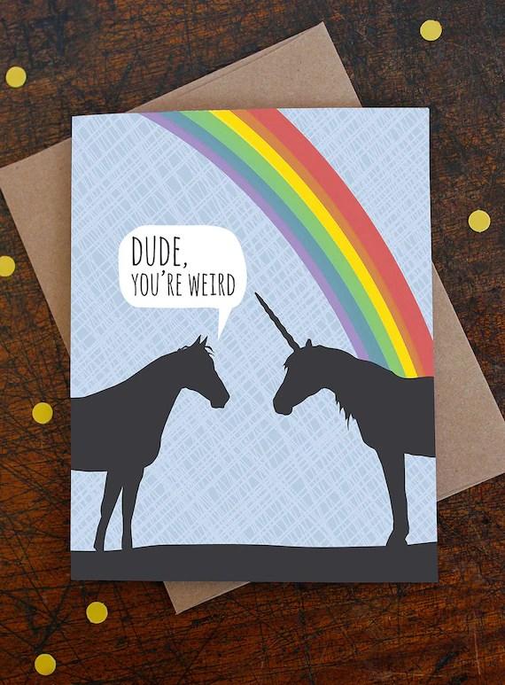 Lustige Geburtstagskarte Einhorn