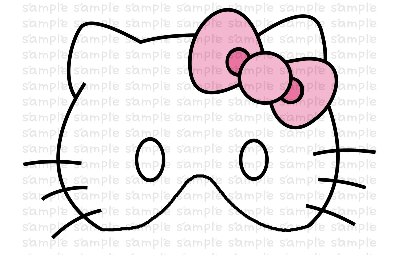 Hello Kitty Inspired Printable Masks Instant By Danilykewoah