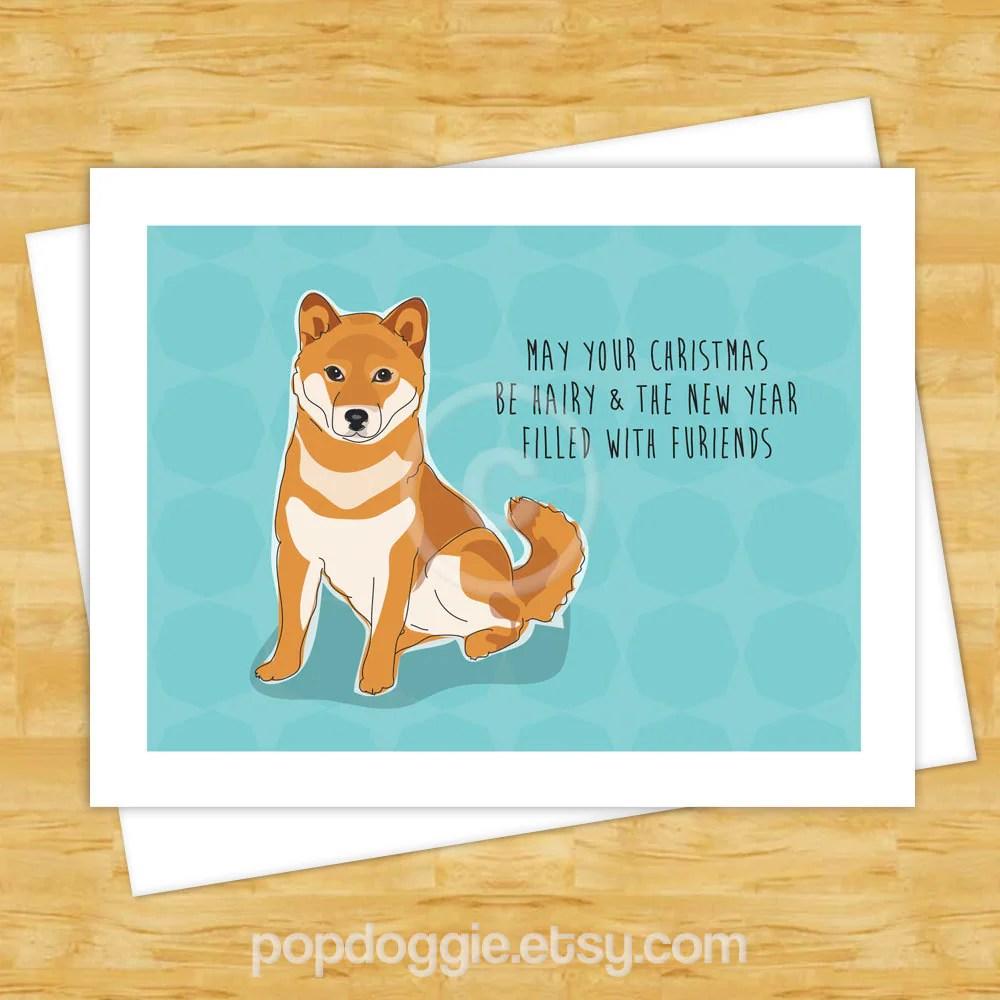 Dog Christmas Cards Shiba Inu May Your Christmas Be Hairy