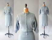 1940s Knit Set / Townie Sweater and Skirt / 50s