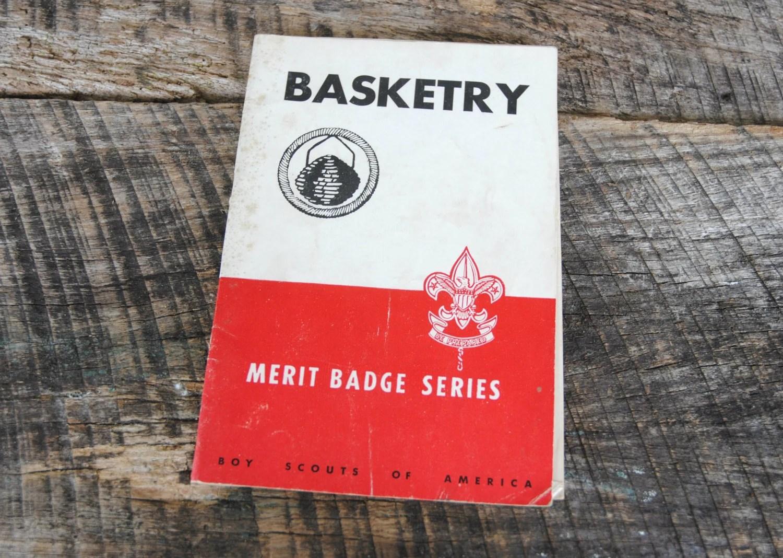 Vintage Boy Scouts Of America Basketry Merit Badge By