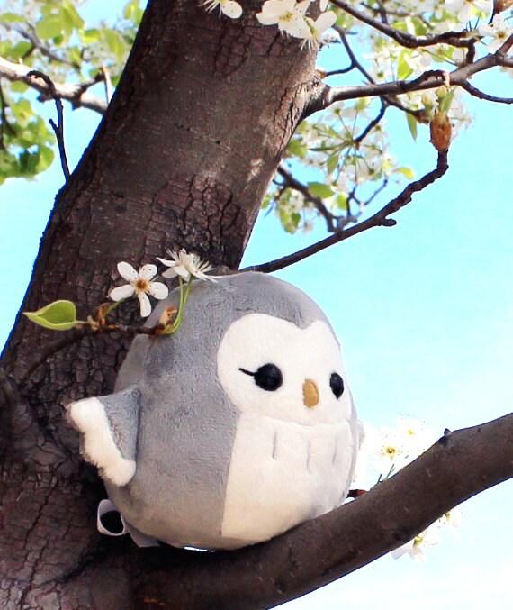 PDF Sewing Pattern Owl Plush Toy Easy Kawaii Stuffed