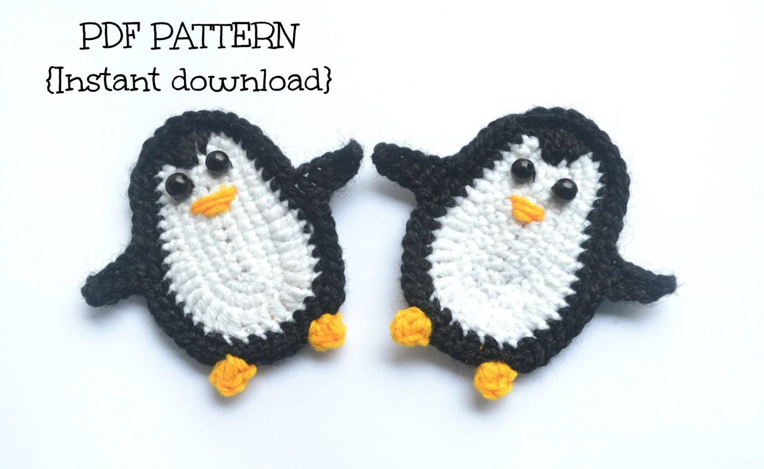 Crochet Pattern Penguin Applique Pattern By Thelazyhobbyhopper
