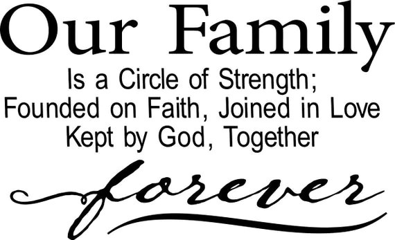 Download Our Family is a Circle of Strength ReadytoCut Vector