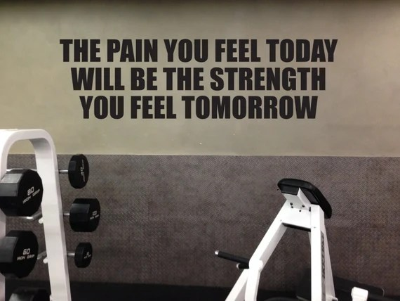 The Pain is the Strength Wall Quote by JandiCoGraphix
