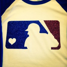 Baseball Tee with Glitter Logo
