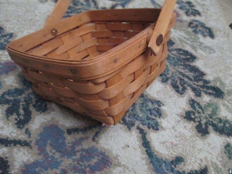 Vintage Basket Longaberger Basket Original Antique