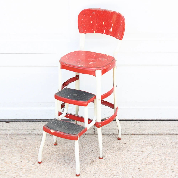 Tremendous Kitchen Chair Step Stool Red Vintage Stool Step Stool Spiritservingveterans Wood Chair Design Ideas Spiritservingveteransorg