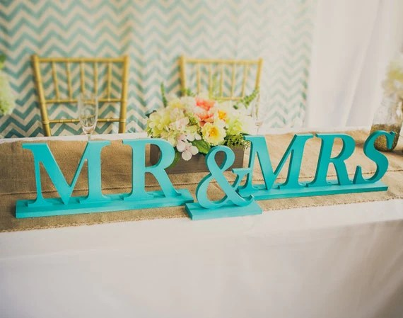 Items Similar To Mr And Mrs Wedding Signs For Hawaiian