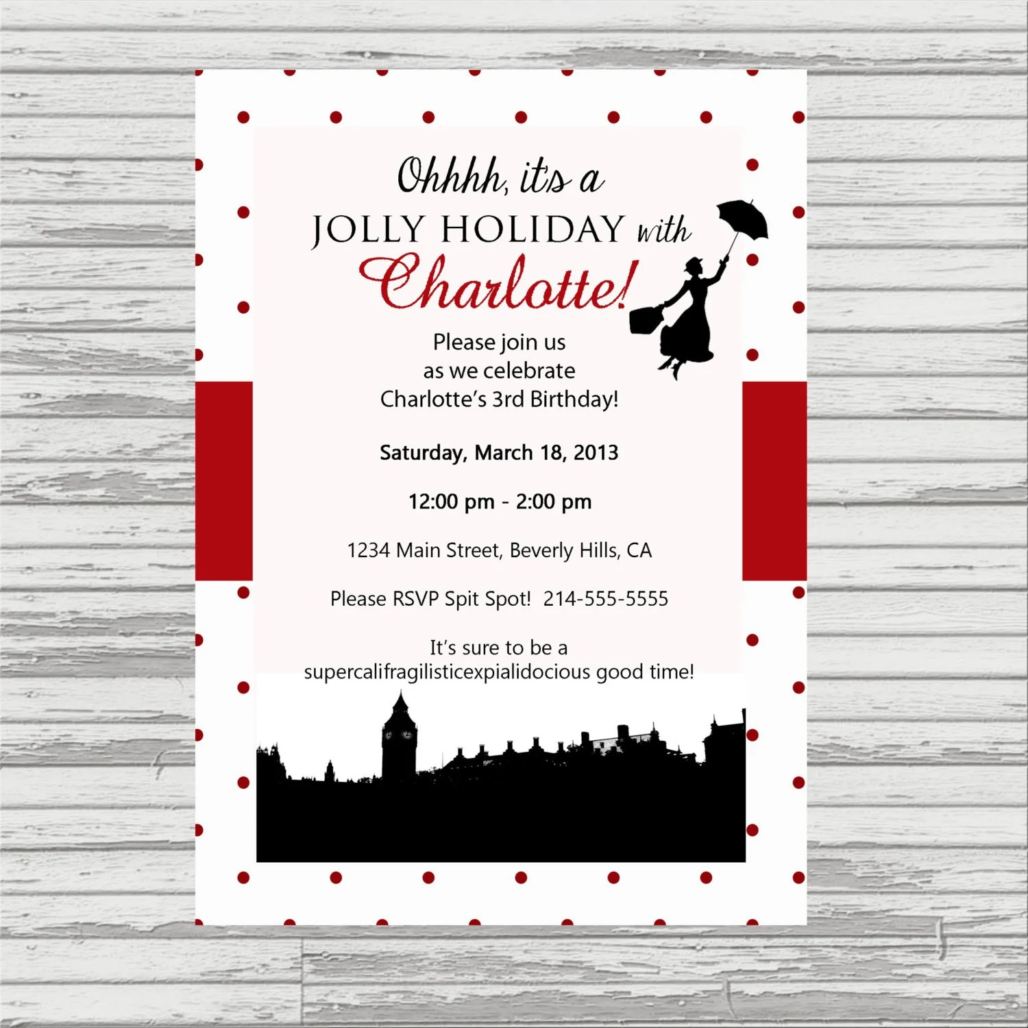 Mary Poppins Birthday Package Printable By Oliviakatedesigns