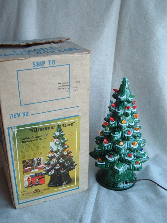 Vintage California Pottery 17 Inch Ceramic Christmas Glimmer