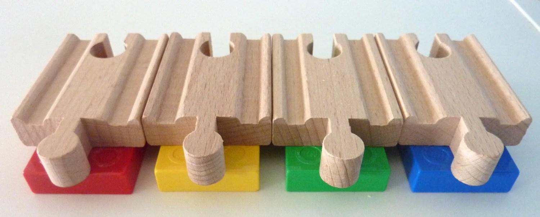 DUPLO BRIO Wooden Train Track Adapter 4 Set