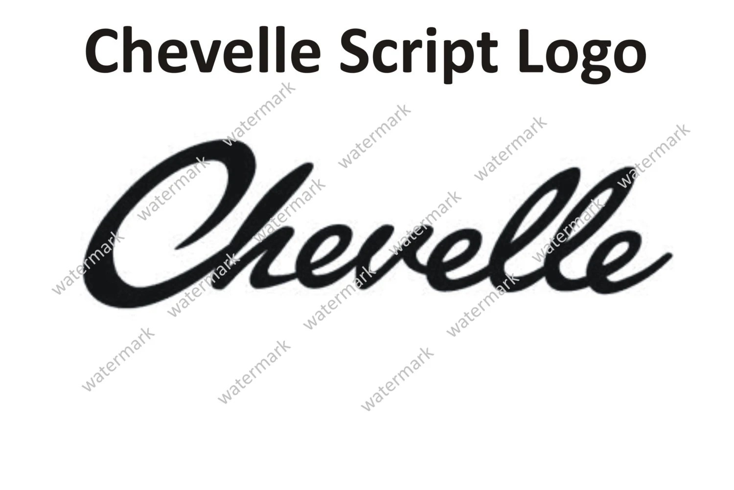 Chevrolet Chevy Chevelle Script Logo Decal Sticker By Robnmon