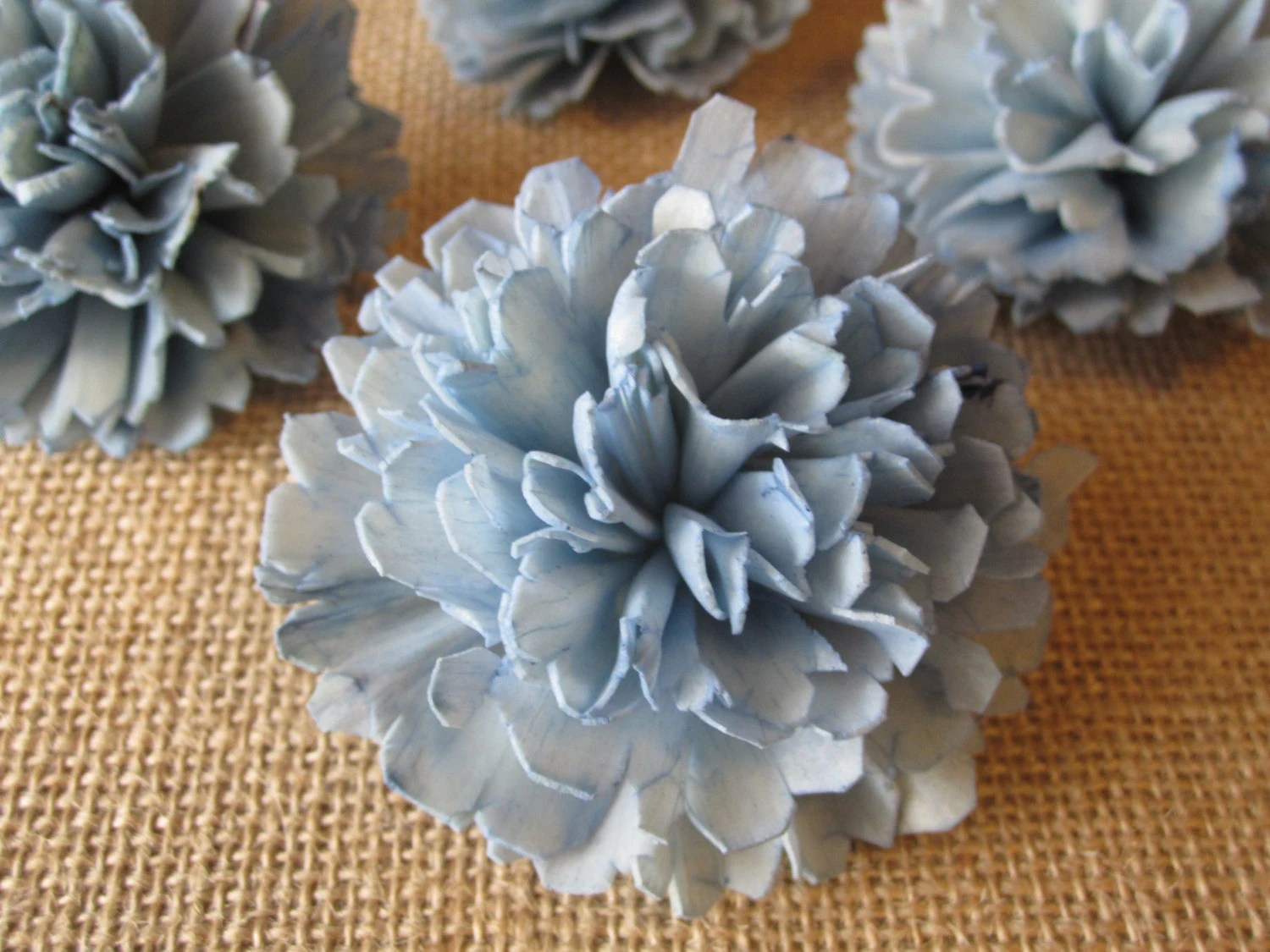 Sola Flowers SET Of 12 Light Blue Carnations From