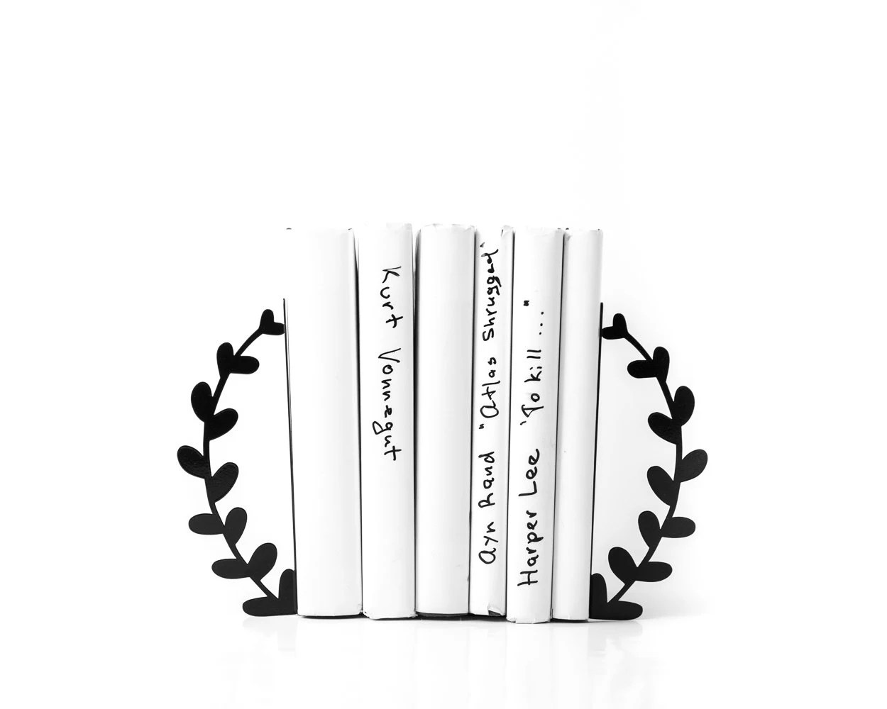 Metal Bookends Wreath Functional Decor For Modern Home