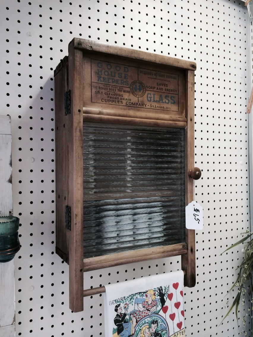 Antique Washboard Cabinet