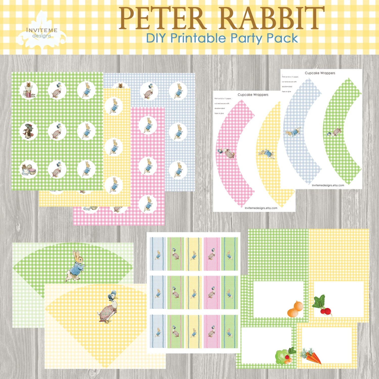 Peter Rabbit Party Printable Baby Shower By Invitemedesigns