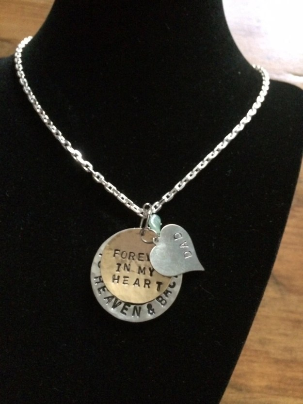 Personalized Hand Stamped Memory Charm Necklace