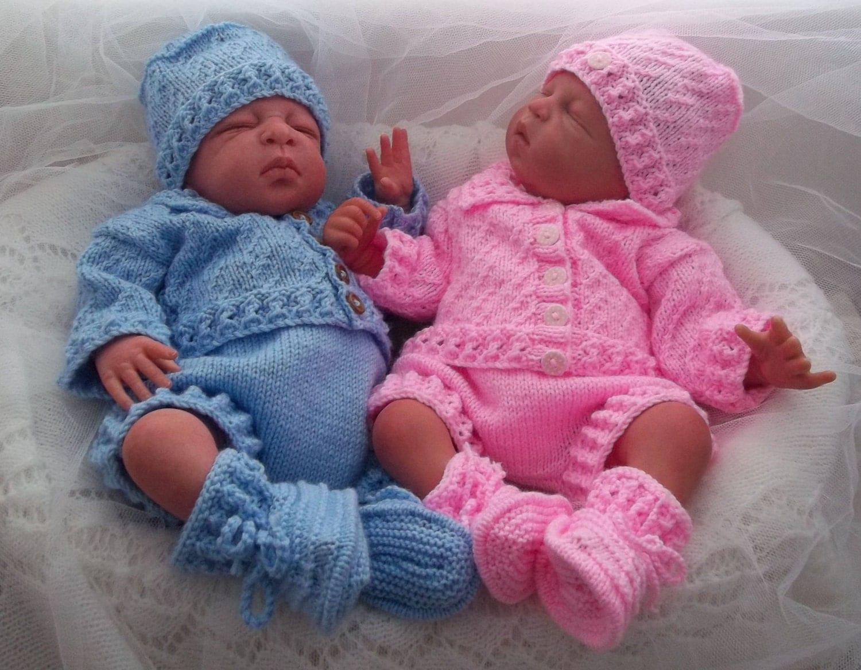 Baby Knitting Pattern Boys Girls Reborn Dolls Newborn To
